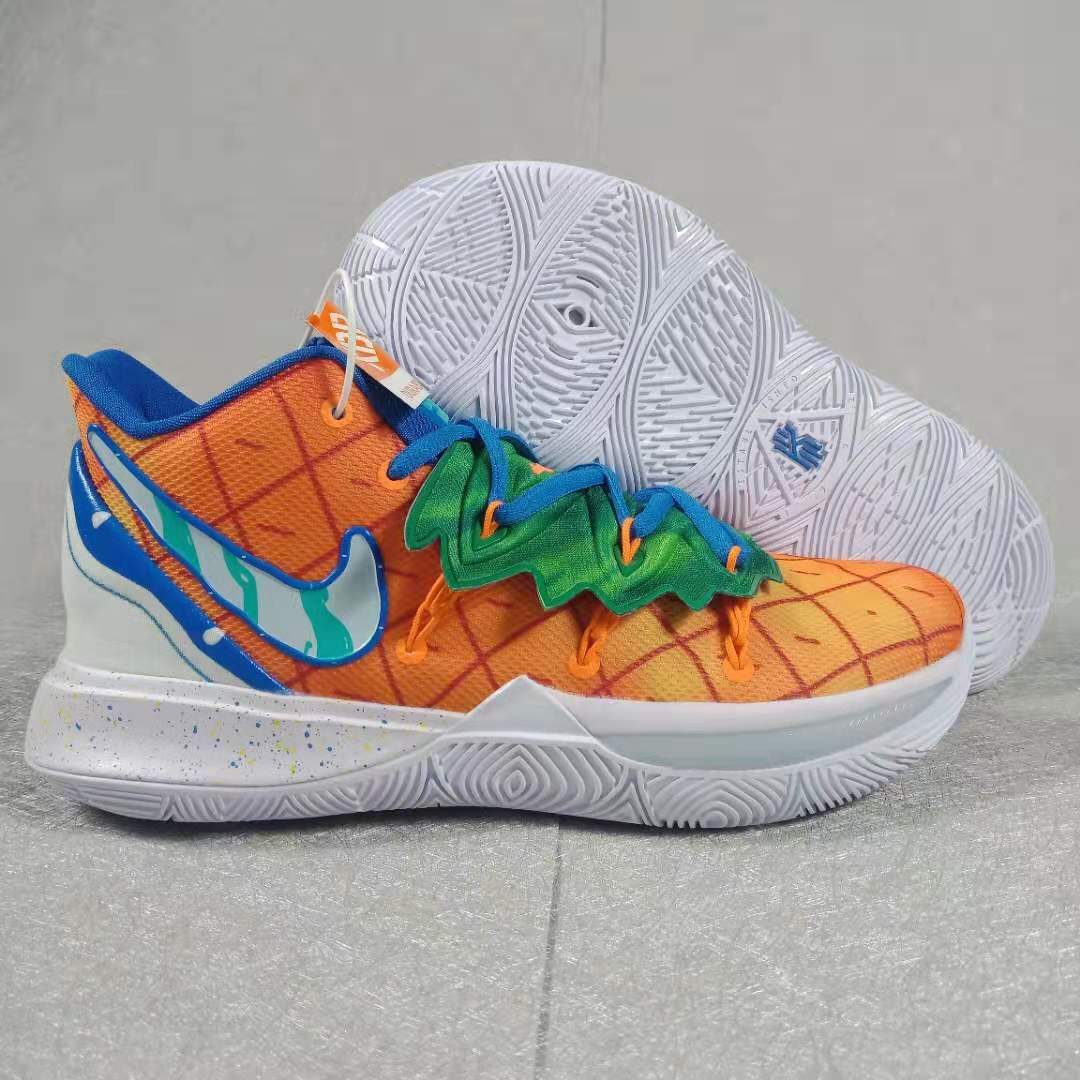 2019 Nike Kyrie 5 Orange Green Blue White Shoes