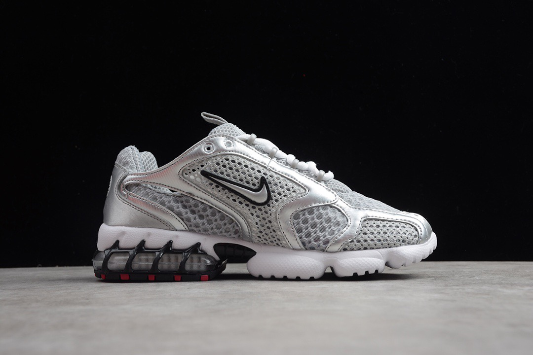 2020 Nike Air Zoom Spiridon Caged 2 Grey Silver Shoes For Women