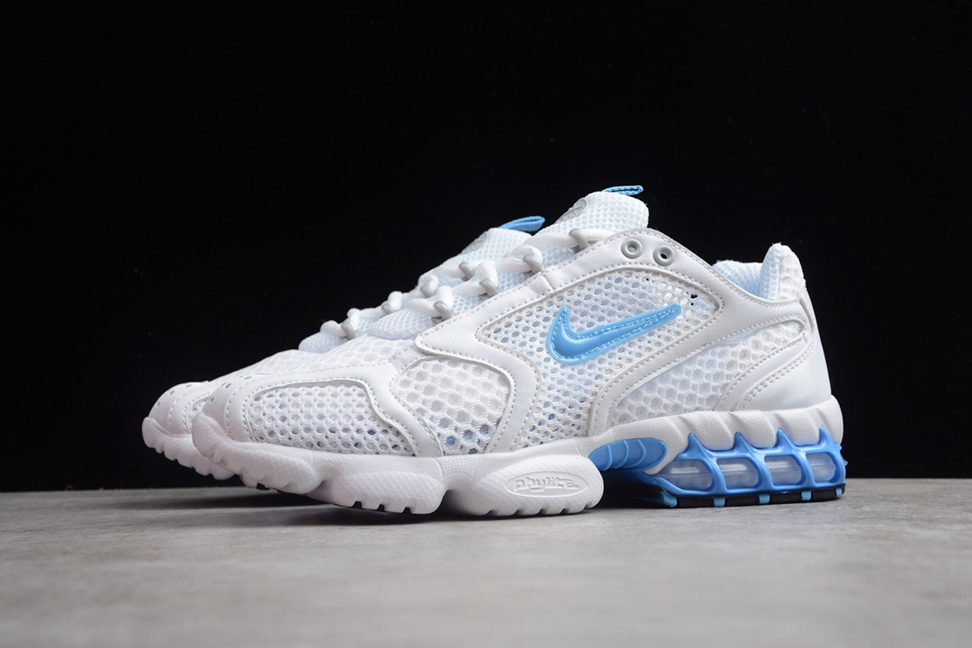 2020 Nike Air Zoom Spiridon Caged 2 White Blue Shoes For Women