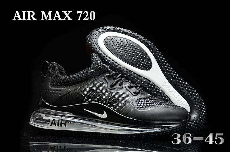 2020 Nike Air Max 720 Black Shoes For Women