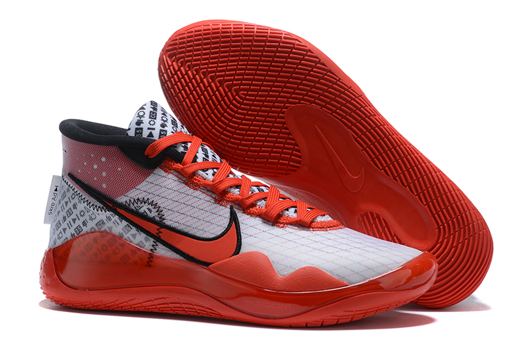2020 Nike KD 13 White Red Black Shoes