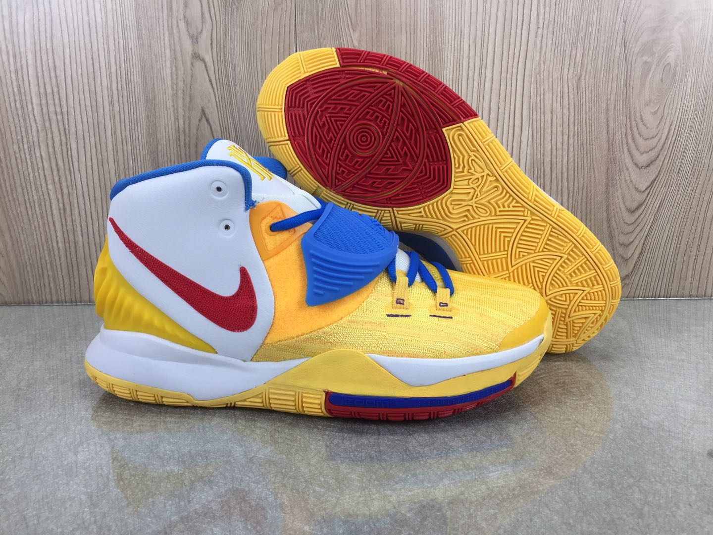 2020 Nike Kyrie 6 BHM Yellow Blue White Red Shoes