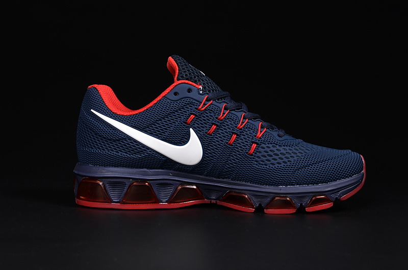 20K8 2010 Nike Air Max Tailwind 8 Deep Blue Red White KPU Shoes