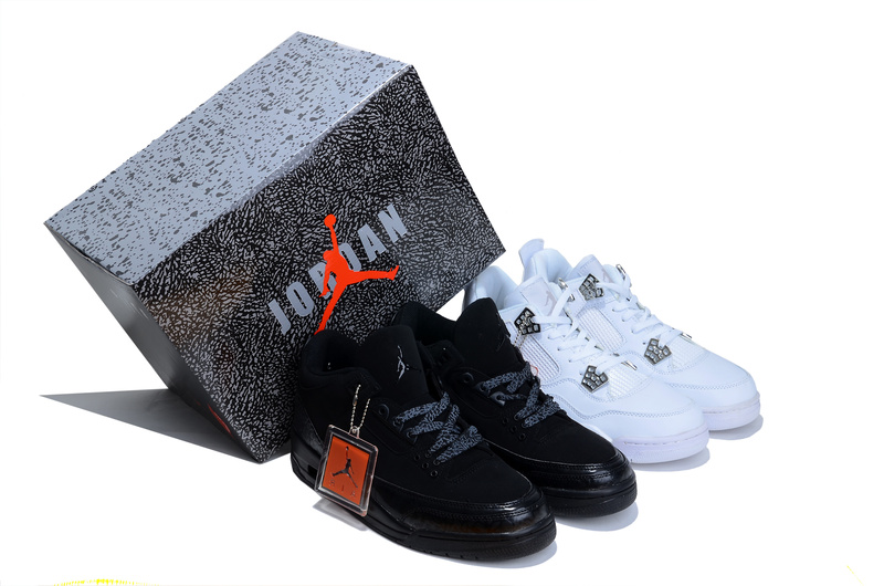 Air Jordan 3 Jordan 4 Black White Combine Package Shoes