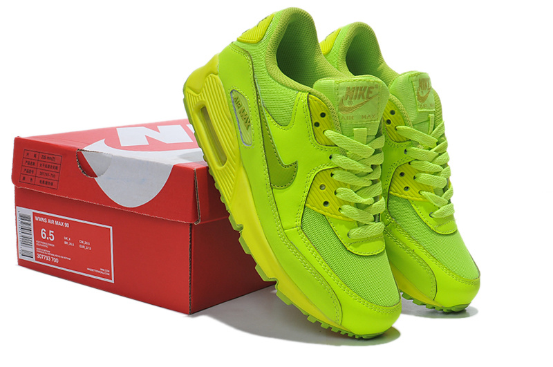 Nike Air Max 90 307793 700 Fluorescent Green Women's Shoes