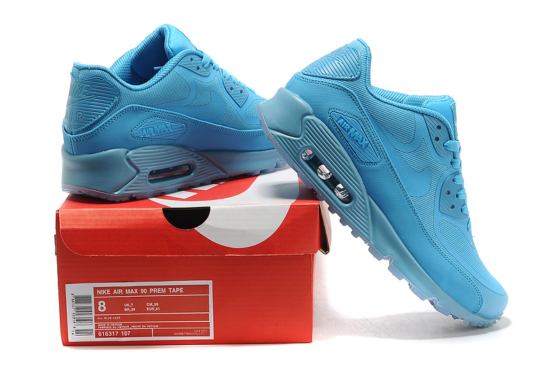 New Nike Air Max 90 All Blue Shoes