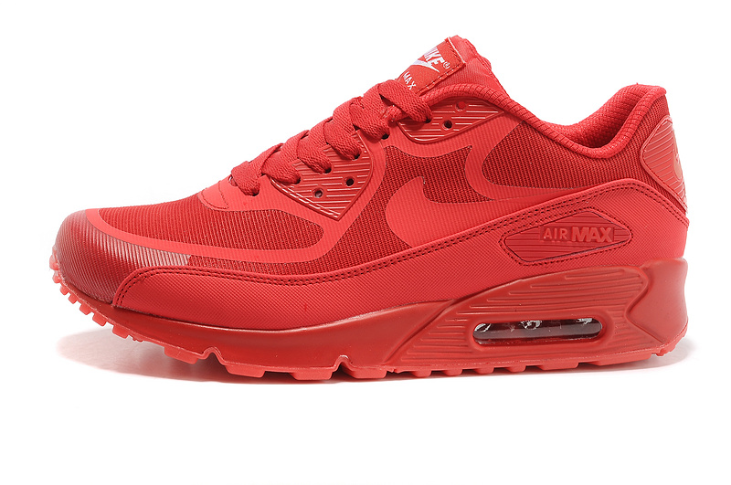 New Nike Air Max 90 All Red Shoes