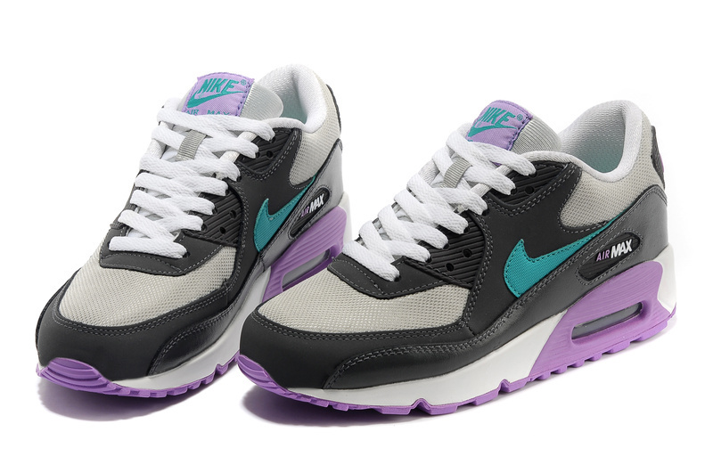 Nike Air Max 90 Black White Purple For Women