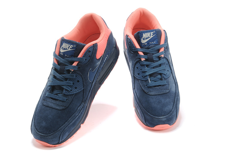 New Nike Air Max 90 Dark Blue Orange Red Shoes
