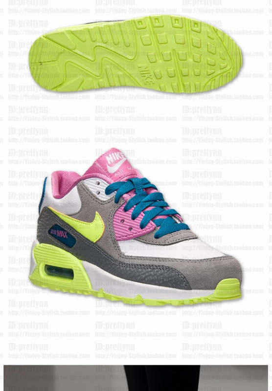 Nike Air Max 90 Grey Pink Green For Women