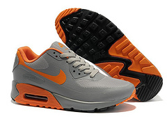 Nike Air Max 90 Mesh Grey Orange Shoes