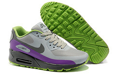 Nike Air Max 90 Mesh Grey Purple Black Shoes