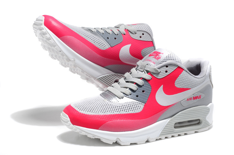 Nike Air Max 90 Mesh Grey Red White Shoes