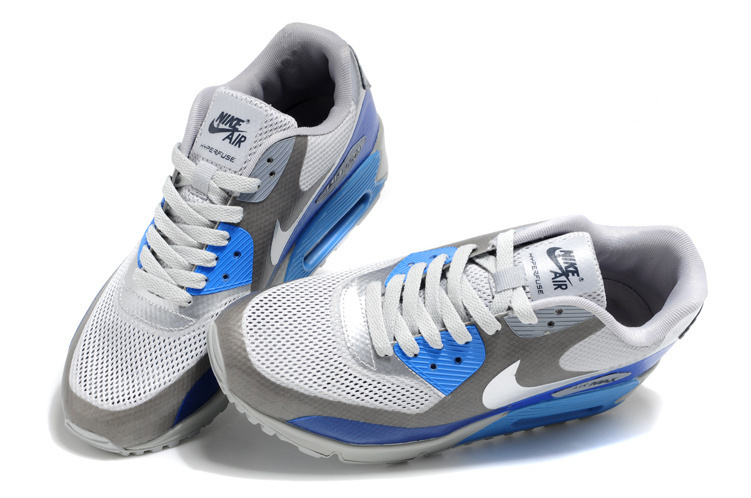Nike Air Max 90 Mesh White Grey Blue Shoes