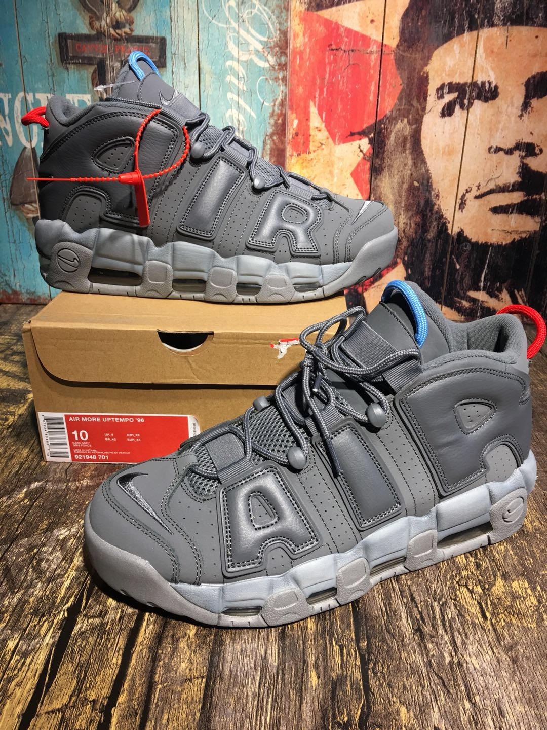 Alexander-John Nike Air Uptempo Grey Shoes