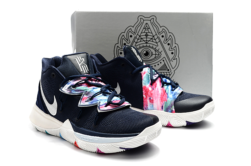 Women Nike Kyrie 5 Black Blue Colorful Shoes