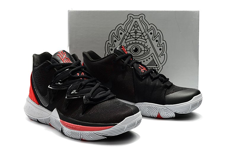 Women Nike Kyrie 5 Black Red Shoes