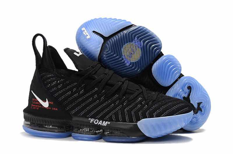 Women Nike Lebron 16 Black Gamma Blue Shoes