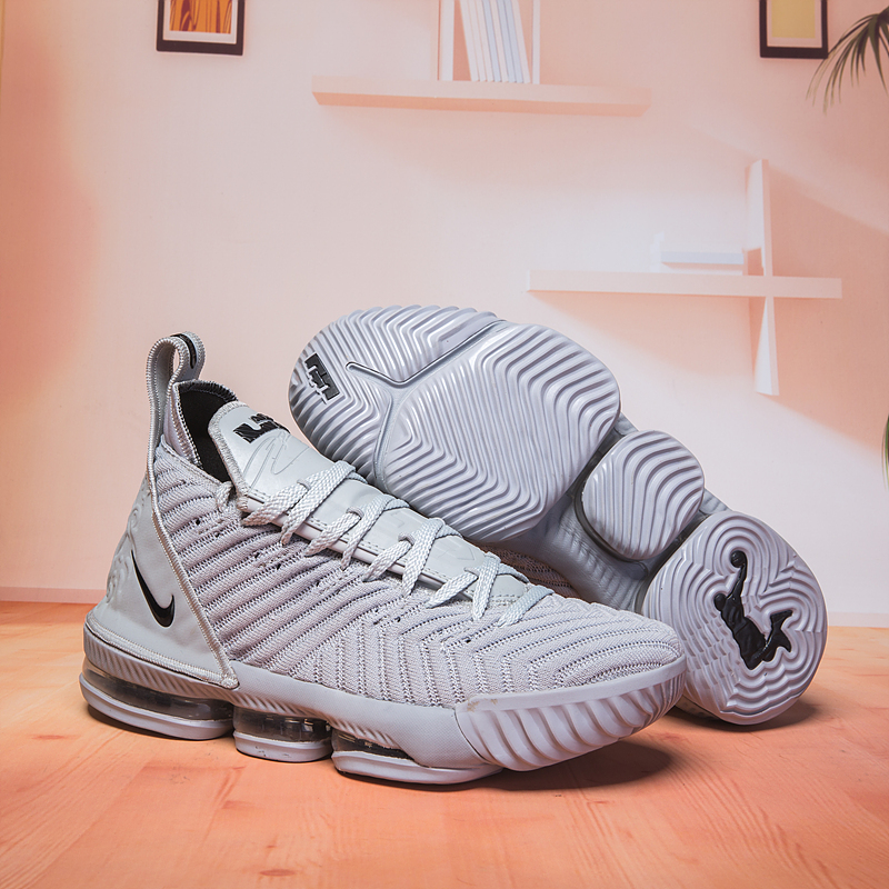 Women Nike Lebron 16 Wolf Grey Shoes