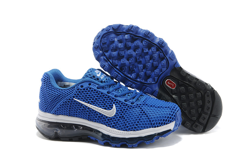 Kids Nike Air Max 2009 Blue White Running Shoes