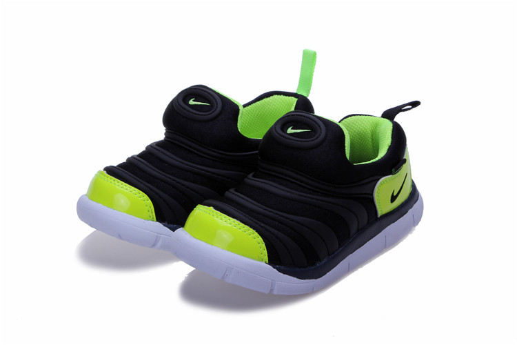 Nike Dynamo Free Black Fluorscent Green White Shoes For Kids