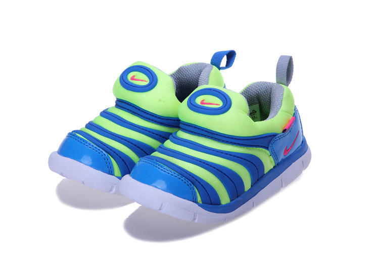 Nike Dynamo Free Blue Green Shoes For Kids