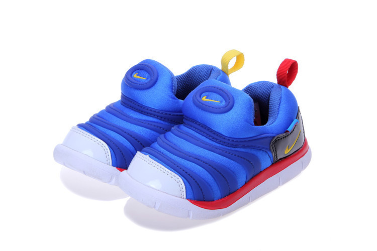 Nike Dynamo Free Blue Red Black White Shoes For Kids