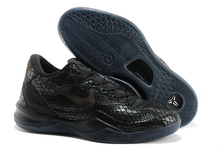 Nike Kobe 8 Shoes The Year Of Snake Edition All Black
