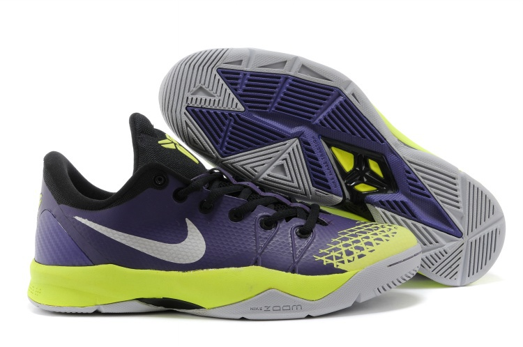 Kobe Bryant Venomenon 4 Purple Green Grey Shoes