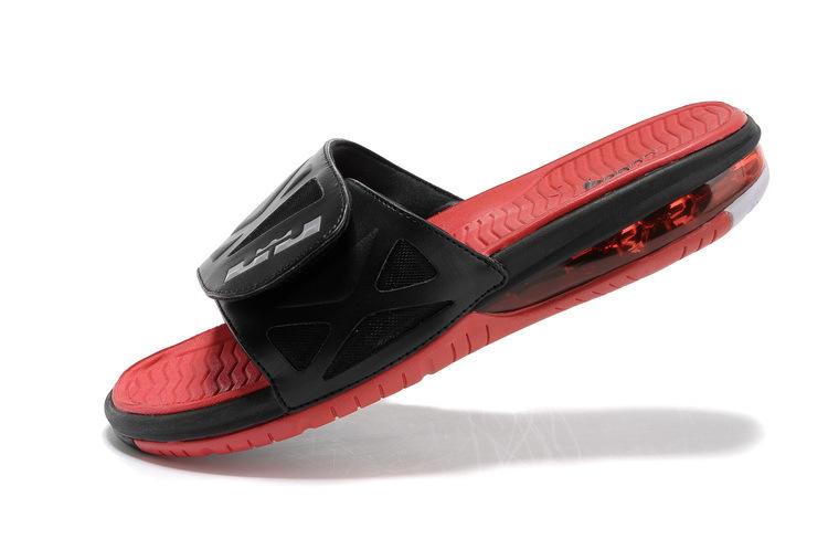 7395c23d3e5 Functional Nike Lebron James Hydro 10 Air Cushion Black Red Sandal ...
