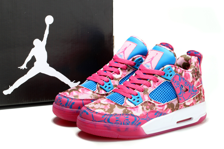 Limited Womens Nike Jordan 4 Pinkp Rose Shoes