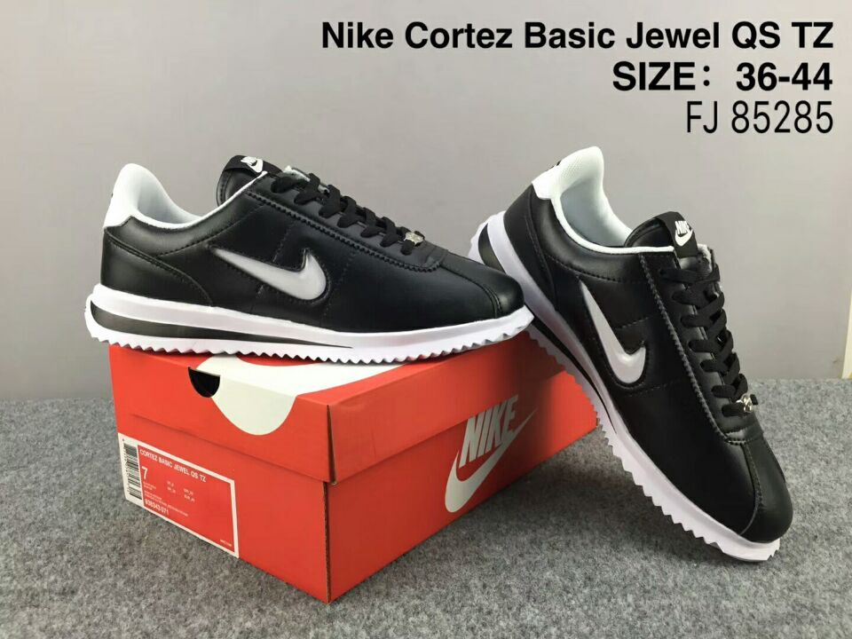 NiKe Cortez Basic Jewel QS TZ Black White Shoes