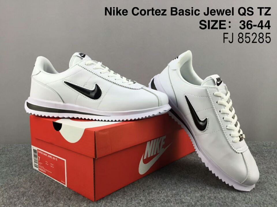 NiKe Cortez Basic Jewel QS TZ White Black Shoes