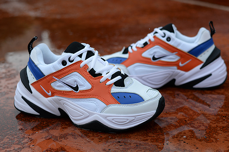 Nike Air M2K Tekno White Orange Blue Black For Women