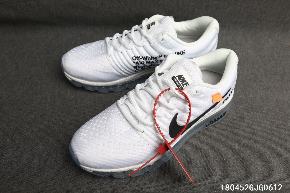 Women Nike Air Max 2017 Off-white White Black Shoes