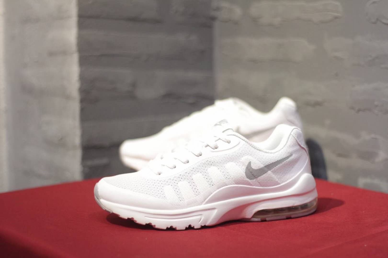 Women Nike Air Max Invigor Print 95 All White Shoes