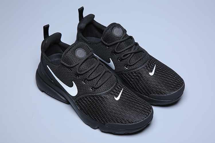 Women Nike Air Presto Fly V5 All Black White Logo Shoes