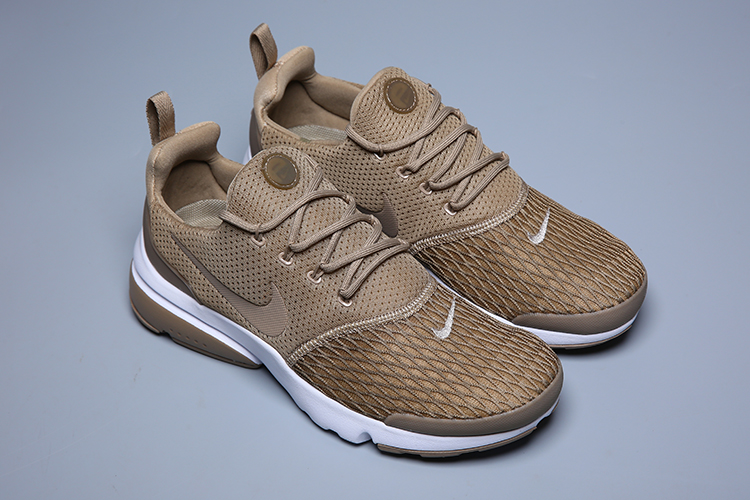 Women Nike Air Presto Fly V5 Brown White Shoes