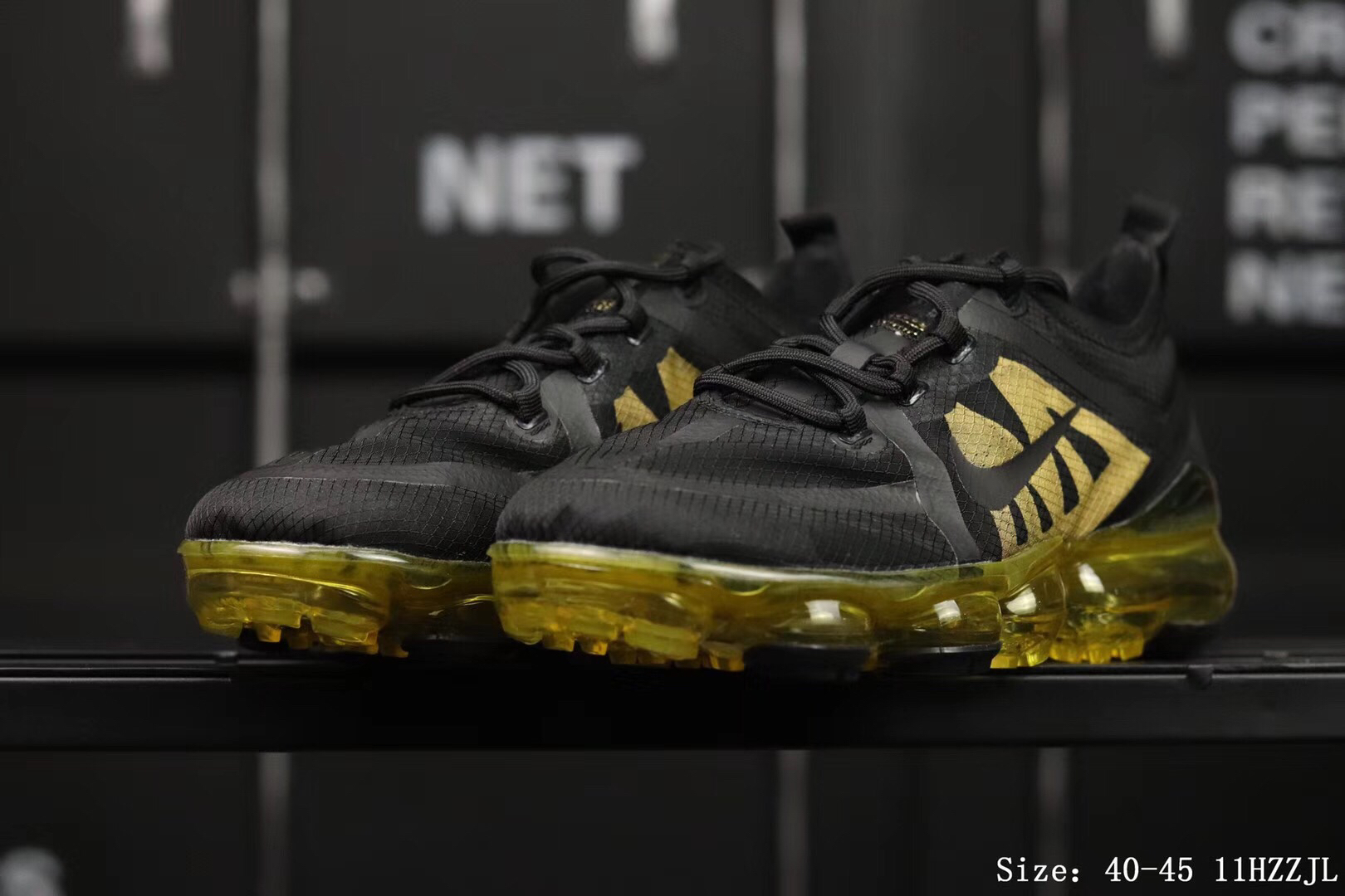 Women Nike Air Vapormax 2019 Flaps Black Green Shoes