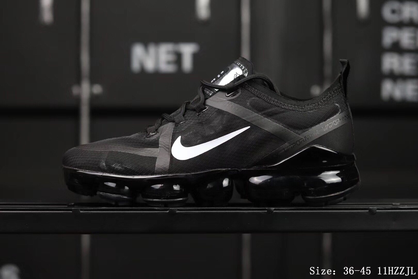 Women Nike Air Vapormax 2019 Flaps Black White Shoes