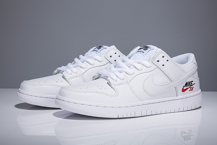 Women Nike Dunk Low Elite Sb All White Shoes