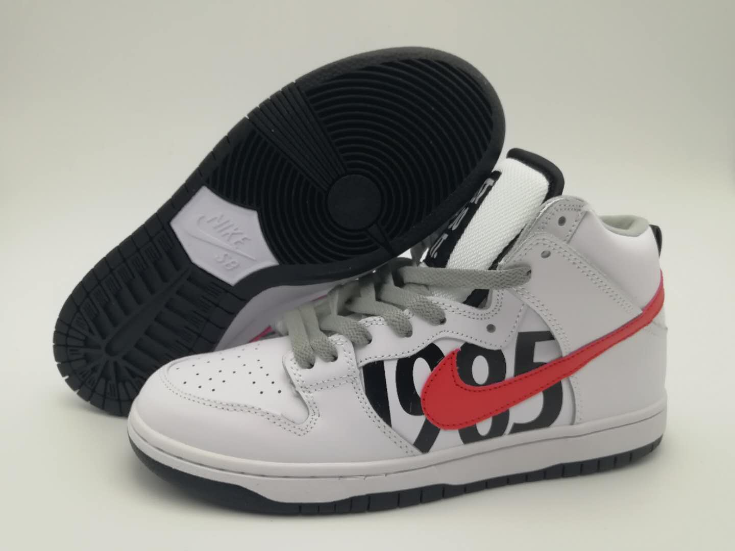 Women UNDFTD x Nike Dunk Lux White Black Red Shoes