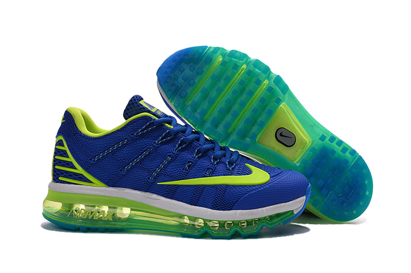 Women Nike Air Max 2016 Blue Fluorscent Green Shoes