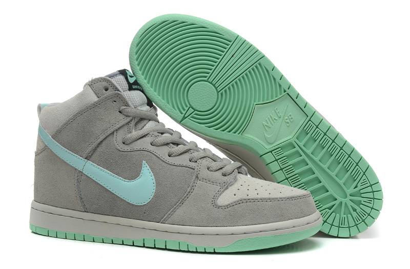 Nike Dunk High Grey Mint Shoes