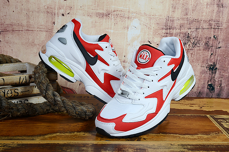 Men Air Max2 Light White Red Black Running Shoes