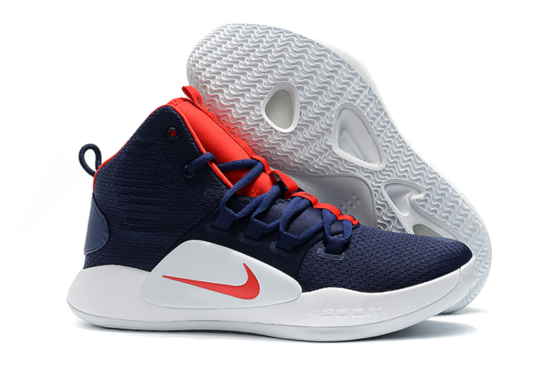Men Nike Hyperdunk X EP Deep Blue Red Shoes