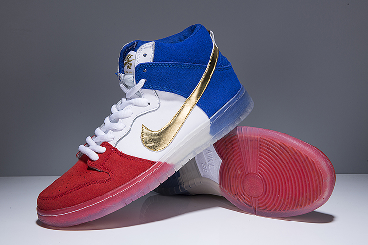 Men Nike SB Dunk High PREM Tricolor Shoes