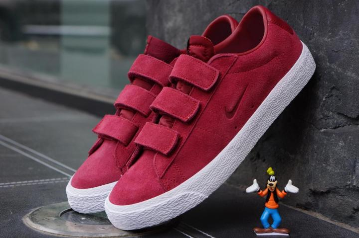 Men Nike SB X Numbers Edition Blazer Low Ac Qs Red White Shoes