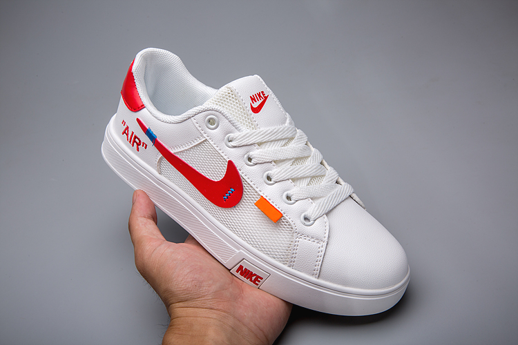 Men Nike Unisex Off-white White Red Shoes