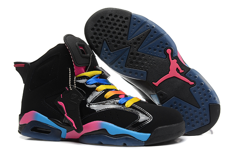 New Nike Jordan 6 Basketball Shoes Black Colorful